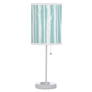 White Birch Trees Table Lamp