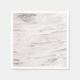 White Birch Wood Rustic Country Barn Wedding Paper Napkin