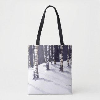 White Birches in Winter Tote Bag