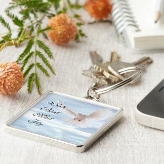 White Bird Keychain