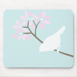 White Bird Mousepad