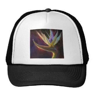 White Bird Of Paradise Hawaiian Tropical Flower Trucker Hat