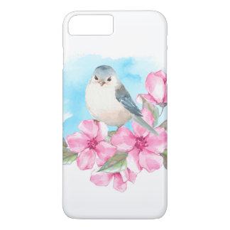 White bird. Watercolor spring iPhone 8 Plus/7 Plus Case