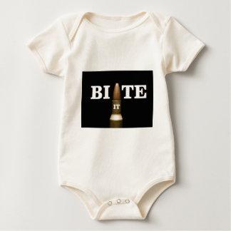 white bite the bullet baby bodysuit