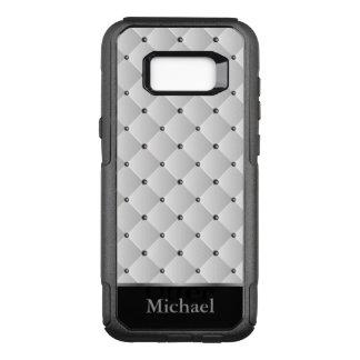 White, Black and Silver Pattern Design OtterBox Commuter Samsung Galaxy S8+ Case