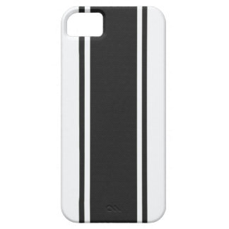 White & Black Carbon Fiber iPhone 5 Case