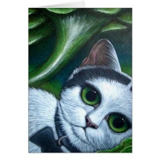 WHITE/BLACK CAT & TORNADO CUSTOMIZE Card