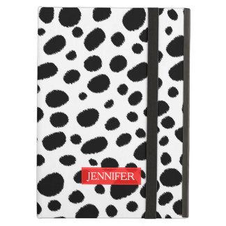 White & Black Cheetah Spots Pattern GR1 iPad Air Cover