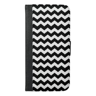 White & Black Chevron Zigzag Wallet Case