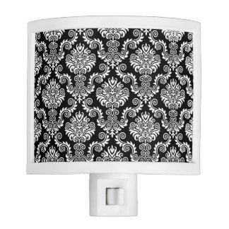 White & Black Damask Pattern{pick your color} Night Lites