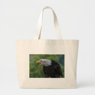 White Black Eagle during Daytime Large Tote Bag