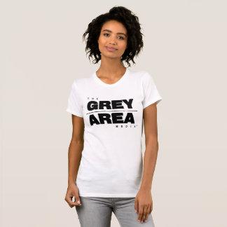 White/ Black Grey Area Apparel Womens T-Shirt