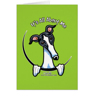 White Black Greyhound IAAM Card