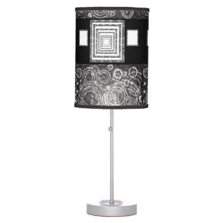 white black lamp shade