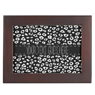 White Black Leopard Print Memory Boxes
