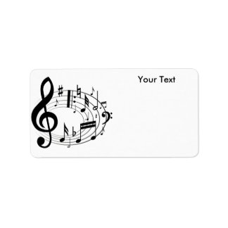 White & Black Music Scale Music Notes