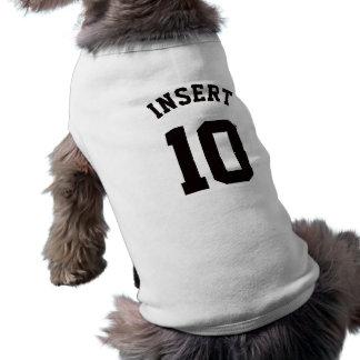 White & Black Pets | Sports Jersey Design Pet T-shirt