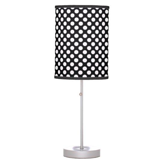 White Black Polka Dots - Table Lamp