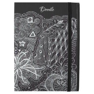 "White/Black Random Doodle Art Fun Unique iPad Pro 12.9"" Case"