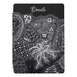 White/Black Random Doodle Art Fun Unique iPad Pro Cover