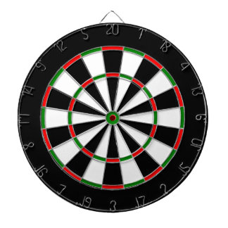 White, Black, Red and Green Metal Cage Dartboard