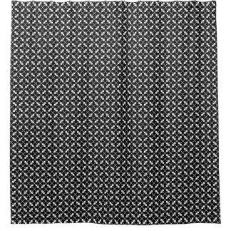 White Black Square Lines and Blocks Pattern
