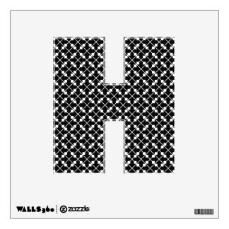 White Black Square Lines and Blocks Pattern Wall Decal