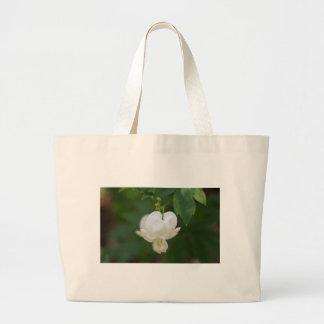 White Bleeding Heart Large Tote Bag