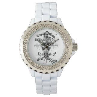 White Bling Music Skull Watch. Watch