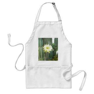 White Bloom On Cactus Adult Apron