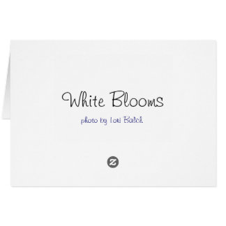 White Blooms Card