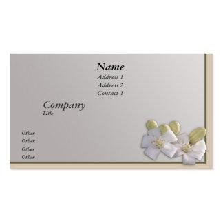 White Blossom Business Card