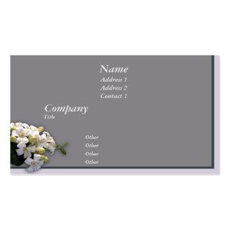 White Blossom Business Cards