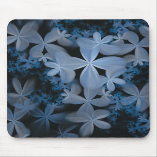 White Blossom Chaos Mouse Pad