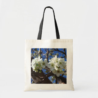 White Blossom Clusters Spring Flowering Pear Tree Tote Bag