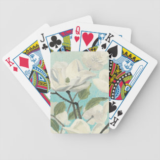 White Blossoms from the South Bicycle Playing Cards