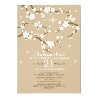White Blossoms Invitation