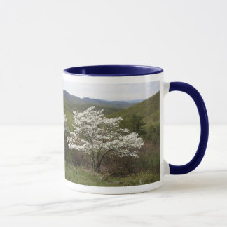 White Blossoms on Skyline Drive Mug