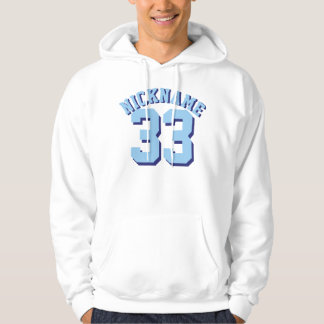 White & Blue Adults | Sports Jersey Design Hoodie