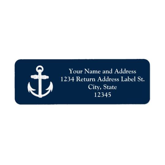 White/Blue Nautical Anchor Symbol