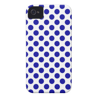 White Blue Polka Dots - iPhone 4/4S Case