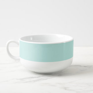 White/blue soup mug for vegetarian and vegan