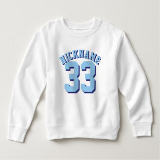 White & Blue Toddler | Sports Jersey Design Sweatshirt