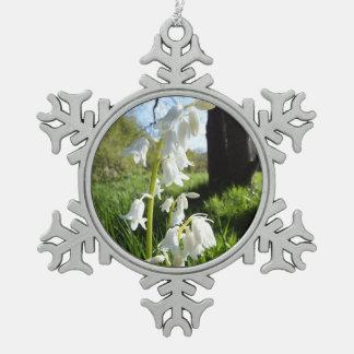 White Bluebells Snowflake Ornament