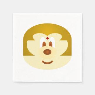 White Bob Hair Lady 鮑 鮑 Paper Napkin