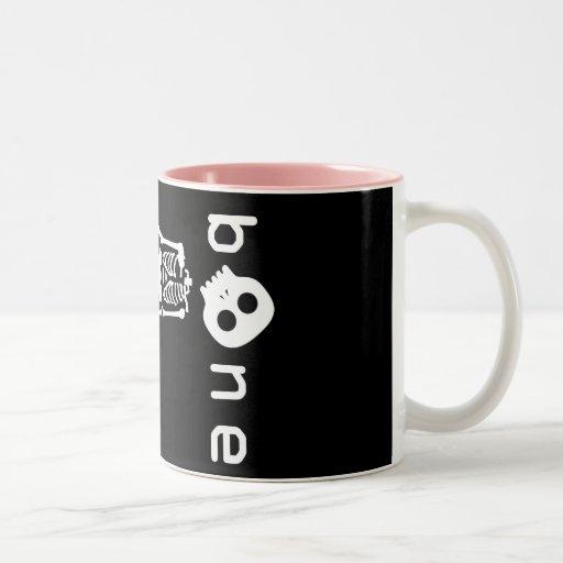 white bone coffee mug