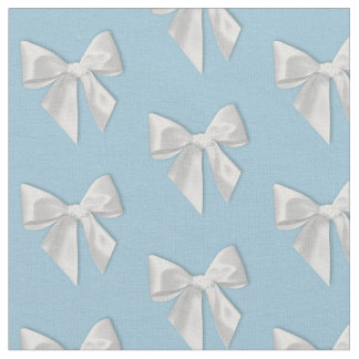 White Bows Fabric
