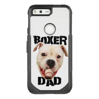 White Boxer Baseball dad Google Pixel phone case