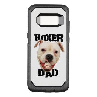 White Boxer Baseball dad Samsung S8 phone case