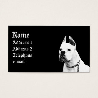 White Boxer business card